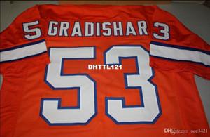 Hombres Randy Gradishar # 53 Naranja cosido cosido Jersey retro completa bordado Jersey talla S-4XL o costumbre cualquier nombre o el número del jersey