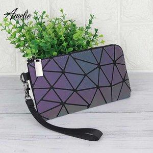 AMELIE Galanti 2.020 feminina carteira saco de embreagem luminosa diamante geométrica quadrado saco pendurado certificado de armazenamento senhora