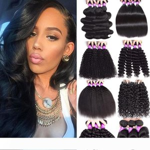Indian Virgin Hair Straight Body Wave Bundles Weft 9A Unprocessed Remy Hair Extensions Loose Deep Wave Human Hair Weaves 8-30 inch