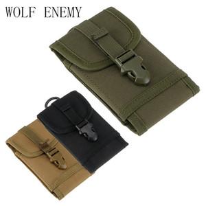 1000 D Cordura Tactical Molle Phone Bag Modelo Hook Loop Belt Small Mini Pols Holster Multi Universal Phone Protector Funda Funda
