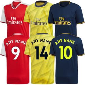 2019 2020 아르센 홈 노란색 축구 유니폼 셋째 깊고 푸른 리그 클럽 19 20 아스날 축구 셔츠 성인 남자 여자 축구 셔츠 멀리 빨간색