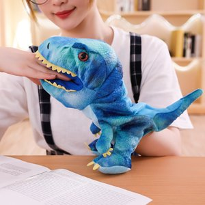 1pc 30cm Cute Carton Animal Hand Puppet Toys Plush Dinosaur Puppets Kawaii Doll for Baby Kids Birthday Gift for Children