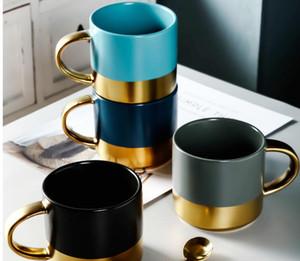 브런치 머그 컵 고객 로고 인쇄 커피 음료 - 도자기 럭셔리 스타일의 컵 다채로운 음료 - 도자기 홈 오피스 유럽 스타일의 디자인 컵