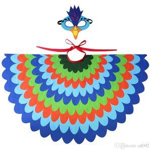 محاكاة Cuspirostrisornis عباءة البدلة الطاووس الأخضر مع قناع العين الشيفون مطر كيد تأثيري الملابس حزب الطيور زي الدعائم 28 9spb1