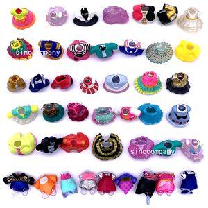 Original de 10 pcs LoL Roupas De Bonecas Vestidos Fatos para DIY LoL Acessórios de brinquedos decorações de brinquedos