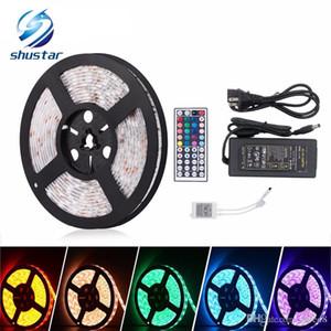 5M SMD5050 RGB Led Strip 60led m DC12V Waterproof 300leds + 44key RGB LED controller +12V 5A 60W Power adapter