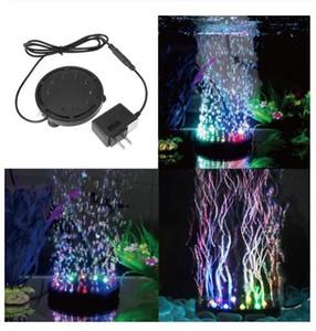 Воздушный насос огни Аквариумное светодиодное освещение 12 Светодиодные светлыми погружными аквариумными аквариумами Air Coney Bubble Pump Decor LED Aquarium + Воздушный насос