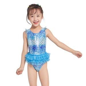 Kinder siamesischen Badebekleidung Mermaid Swimsuits Kreative Mädchen Schwimmen Kleidung Badeanzug Pool Praxis Badeanzug für Sommer