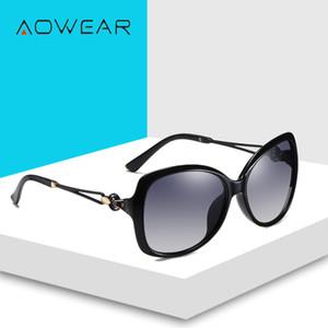 AOWEAR 2020 boy Retro kadın güneş gözlüğü polarize kadınlar için degrade Shades gözlükleri Lady gözlük kadın