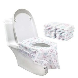 Portable monouso Toilet Seat prova di copertura non tessuto Stella di carta stampata Water Potty Protector Fit Bambino pubblico adulto vetrine 12 5CR E19 E19