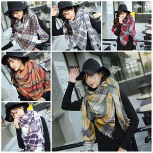 moda 14 tarzı Kış yeni kadın Ekose Eşarplar kare eşarp üçgen Şal süper büyük atkısı PartywareT2C5162 kalınlaşmış Kontrol