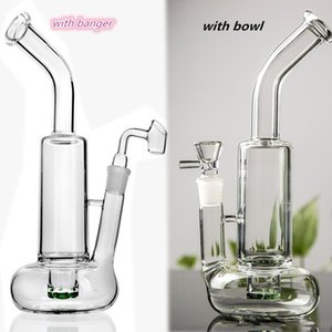 Clear Heady Tornado Bong Thick Bubbler Water Pipe Lifebuoy Base Cyclone Percolator Glass Recycler Beaker Bong Bent Neck Dab Rig High Quality