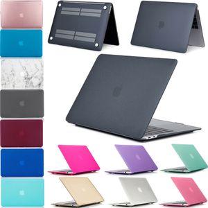 맥북 에어 프로 11 12 13 15 인치 케이스 매트 하드 프론트 백 몸 전체 바디 노트북 케이스 쉘 커버 A1369 A1466 A1708 A1278 A1465