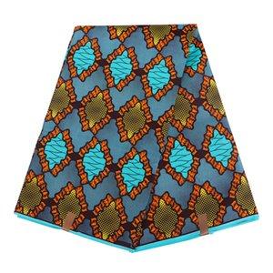 Ankara Africano poliéster Wax tecido imprimem 2019 Binta real de cera de alta qualidade 6 jardas Tecido Africano para handworking costura