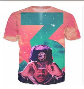 Summer Style Newest Fashion Mens Womens Chance The Rapper Funny 3D Print Casual T-Shirt W0115