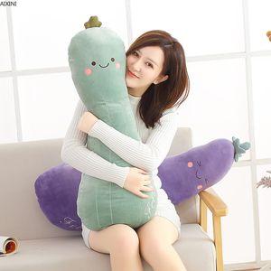 1Pcs Food Plush Pillow for Sofa Kawaii Stuffed Baby Toy for Children Adult Soft Eggplant Carrot Loofah Kid Plush Doll Girls Gift