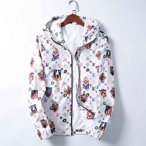 Brand New Designer Men Jackets Zipper Hooded Windbreaker Jackets Fashion Casual Streetwear Sports Mens Jackets Coats
