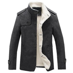 Men Wool Blend Coats 2019 Winter Fashion Men's Solid Color High Quality Coat Clothing Male Thick Warm Overcoat