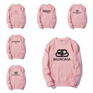 Balenciaga 2019 Neue Herbst-Winter Mens Frauen Langarm-Kapuzen Hip Hop-Sweatshirtmantel Baumwolle Männer Pullover S-2XL