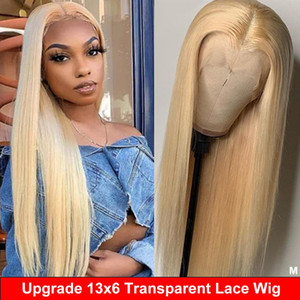 Blonde Lace Front Wig Colored Human Hair Wig 13x6 Lace Front Human Hair Remy Transparent Frontal Straight 613 150%
