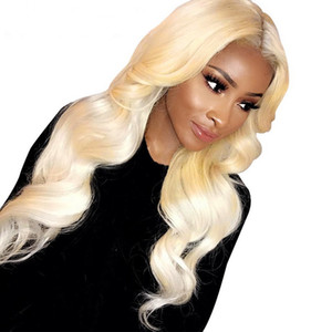 13x4 613 Blonde Lace Front Human Hair Wigs Pre plucked Brazilian Virgin Remy Hair Body Wave Full Lace Wig Glueless Natural Hair