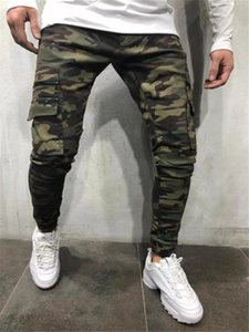 Pantalons Hommes Camouflage Cargo Fashion Casual Printemps Automne Pantalons poches Designer Pantalon Jogger