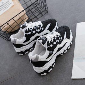 Skechers shoes 2020 nueva Ake Sia femenino ocasional de las mujeres cómodo Mujer Señora cordones de las zapatillas Chaussure Espesar Soled Waddle Ocio