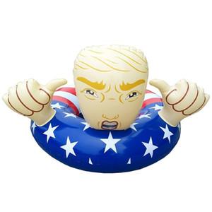 American Swim Círculo Bandeira Trump Flutua Inflável Lifebuoy Adulto Crianças Natação Anel Engrossar Eco Friendly Mais Cor 45ss C1
