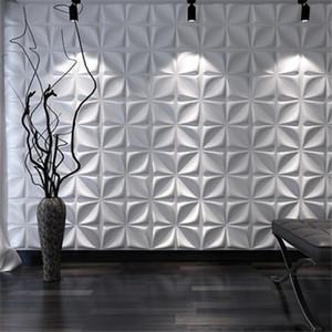 3D Art Wallboard Geometric Cut Diamond Wood Carved Wall Sticker 3D Background Wall Panel Decorative Board House Decor