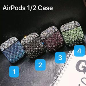 Lusso moda diamante Bing Airpods Custodia per Apple Airpods copertura per aria Baccelli caso di Apple Airpod con la scatola di vendita al dettaglio