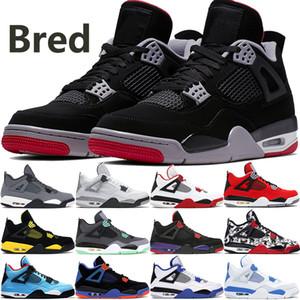En çok satan jumpman erkekler basketbol ayakkabıları mens stilist ayakkabı 40-47 gök gri beyaz çimento yetişmek yeşil Cavs dövme soğutmak 4 4s yetiştirilen