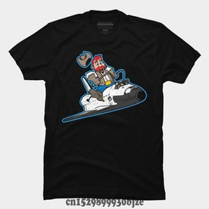 T-shirt imprimé casual fun hommes chauds Space Shuttle Cowboy Summer Street Fashion manches courtes T-shirt