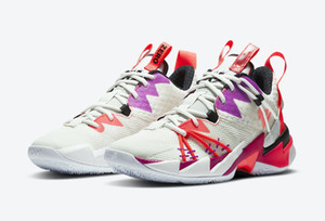 Russell Westbrook III Perché non zero.3 Flash Crimson Mens Scarpe da basket da uomo per le scarpe da ginnastica a vela arcobaleno di alta qualità con scatola con scatola
