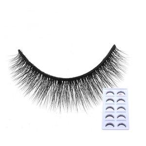 HBZGTLAD 5 pairs Fake Mink Eyelashes 3D Natural False Eyelashes 3d Mink Lashes Soft Eyelash Extension Makeup Kit Cilios