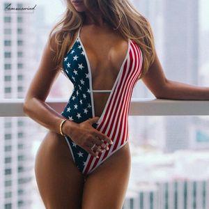Бикини 2020 женщин Купальники American Independence Flag Day Пляж Купальники бикини женщин Купальники купальный костюм Женщины