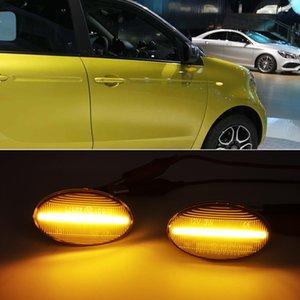 Mercedes Benz Smart W450 W452 A-Class W168 Vito W639 W447 W415 için 1pair LED Araç Side Marker Işıklar Tekrarlayıcı Sinyal Lambaları