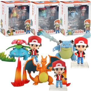 8 см - 10 см Аниме Ash Ketchum С Charizard Blastoise Venusaur ПВХ Действие Рисунок Коллекционные Модель игрушки
