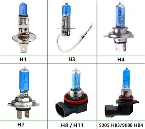4adet Halojen Ampuller Süper Parlak H1 H3 H7 H4 H11 HB3 HB4 HB5 9004 9005 9005 9007 Beyaz Sis Işık 100W Araç Kafa Lambası 12V