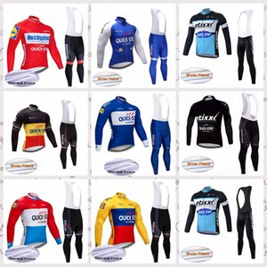 QUICK STEP team Cycling Winter Thermal Fleece jersey bib pants sets 2020 Winter Outdoor Sport Suit Bicycle Clothing C624-38