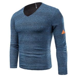 Designer T-shirts Moda Plus Size listra Painéis oco Out Mens Tees Casual machos roupa dos homens de cor sólida