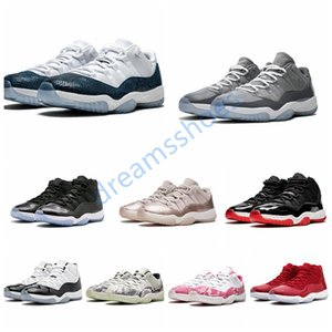 New Low White Bred 11 11s Men Women Jumpman Basketball Shoes Concord 45 White Metallic Silver Platinum Tint space Designer sneakers trainer