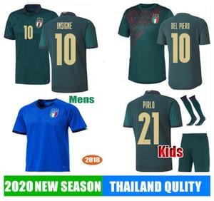 19 20 Itália de Futebol INSIGNE IMMOBILE 2019 2020 EURO Third Kit Itália renascentista Jersey Mens kits Crianças BELOTTI TOTTI Football Shirt