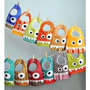 Cadeau de shower de bébé pour bébés nouveau-nés et enfants en bas âge Coton dessin animé bébé Bandana Drool Bibs Bave et cadeau de dentition Set B56