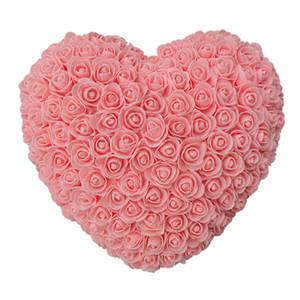 10pcs 35cm Rosen Herz Künstliche Blumen Startseite Hochzeit Festival DIY Günstige Hochzeitsdekoration-Geschenk-Kasten-Kranz-Crafts-bestes Geschenk amazzz