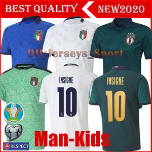 20 21 Itália de Futebol INSIGNE IMMOBILE 2020 EURO Third Kit Itália renascentista Jersey Mens uniforme Crianças BELOTTI TOTTI Football Shirt