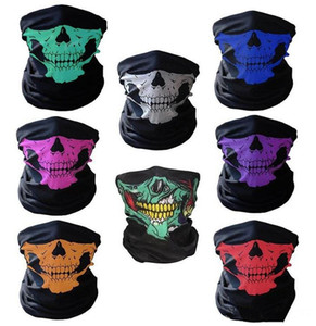 Halloween Scary Mask Festival Skull Masks Skeleton Outdoor Motorcycle Bicycle Multi Masks Scarf Half Face Mask Cap Neck Ghost a97