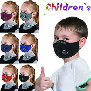 Mascarilla de la cara de los deportes para niños deportes al aire libre a prueba de polvo transpirable con máscara protectora lavable en bicicleta con máscara de bicicleta de carbono activado
