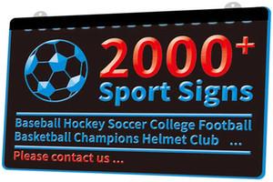 2000+ Спорт Знаки Бейсбол Хоккей Футбол Американский футбол Баскетбол чемпионов Шлем клуб Новый 3D LED Light Войти многоцветность