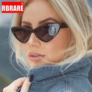 Gato retro RBRARE Eye óculos de sol Mulheres 2019 óculos de sol para as Mulheres Rivet Feminino Vintage