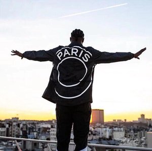 2019 nueva chaqueta de manga larga a prueba de viento otoño diseñador de las mujeres de los nuevos hombres chaqueta con cremallera pareja abrigos abrigos negro talla S-XXL mejor calidad